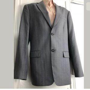 Perry Ellis Mens Gray Wool Blend CLASSIC FIT